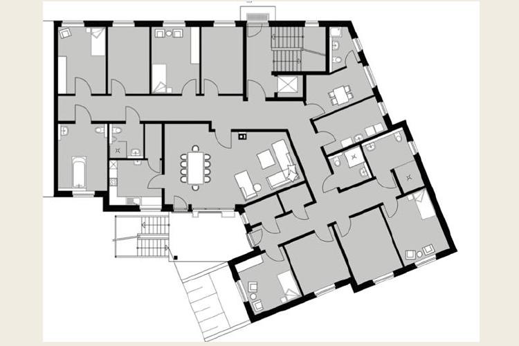 Grundriss Gewerbeimmobilie Pflegeheim Bösl Immobilien
